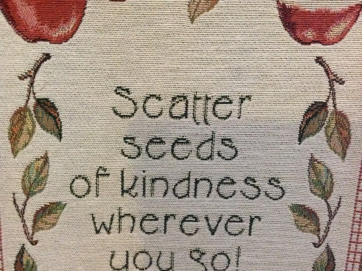 Experiencing an act of kindness today